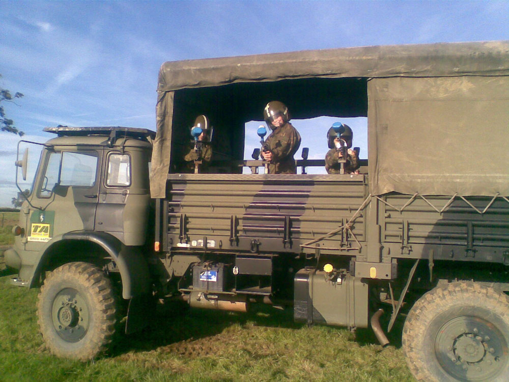 Childrens military vehicle party