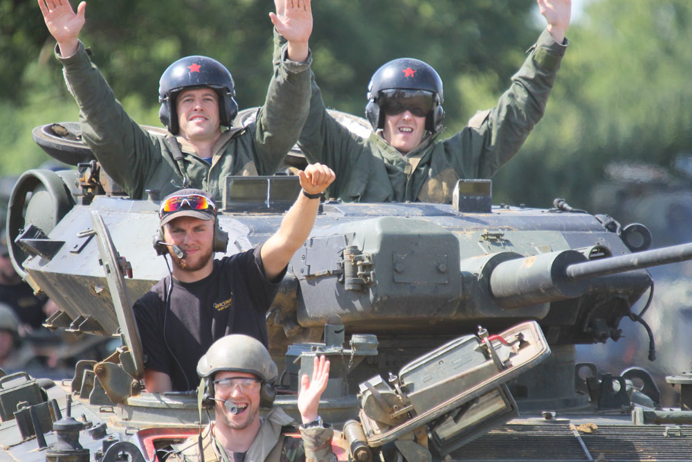 Stag do party with tanks