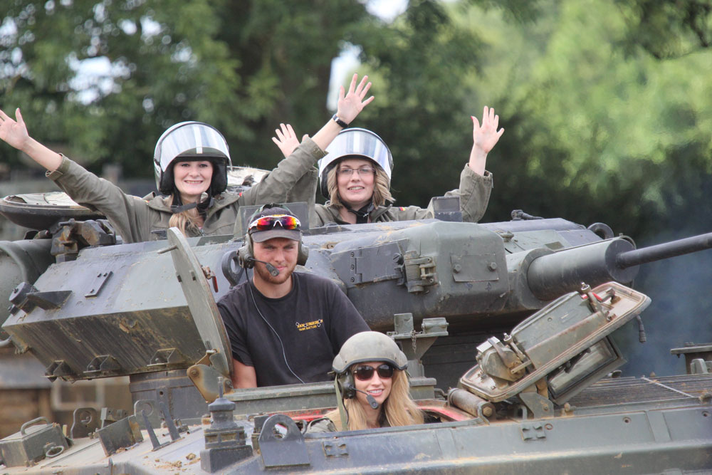 Tank Driving Ladies