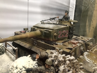 Battle of Villers-Bocage model at Armourgeddon Museum
