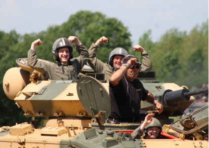 Tank Paintball Battle at Armourgeddon