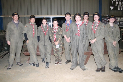 Explorer Scouts at Armourgeddon
