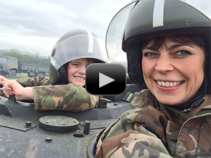 Mothers and daughters Tank Paintball experience